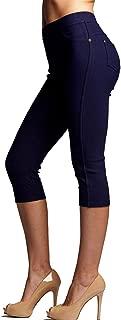 Premium Jeggings for Women - Full and Capri Length - Regular and Plus Sizes - Breathable Cotton Blend