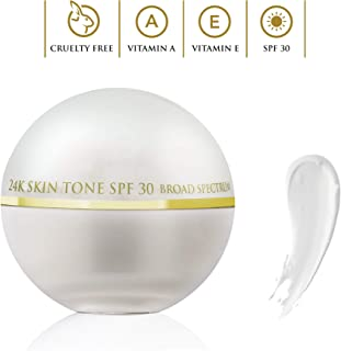OROGOLD SPF 30 Gold Moisturizer – Day Cream with SPF 30 For Sun Protection - Lightweight Moisturizing Face Cream with Active Skin Care Ingredients - 50 g / 1.76 oz