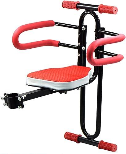 wholesape barato Bicicleta eléctrica Silla de bebé para bebé Frente de de de Bicicleta Sillín de Seguridad con reposabraños Barra de añoyo Pedal Ciclismo Accesorios para Menores de 7 años,rojo  envío rápido en todo el mundo