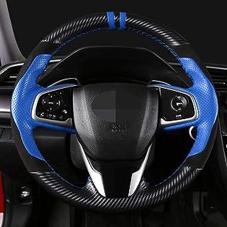 pour Honda Civic Old Civic 2006-2011 WBMKH /Housse de Volant de Voiture Cousue Main en Cuir