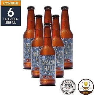 Cerveza Artesanal English Pale Ale, Corazón de Malta, BeerPack con 6 botellas de 355 ml c/u