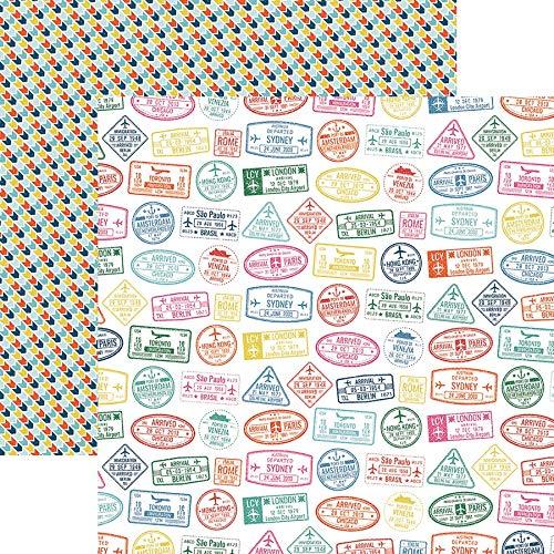 Paper House Productions P-2166E Entdeckungspapier 30,5 cm Pass STP, Passport-Stempel, Einheitsgröße