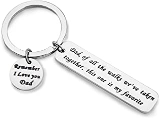 MAOFAED Father of The Bride Wedding Gift Dad Gift of All The Walks We've Taken Together This one is My Favorite Dad Keychain