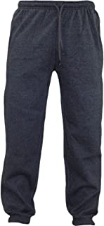 Raiken Men's Fleece Joggers Track Cuffed Bottoms Plain Trouser Sweat Jogging Pant