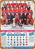 Montreal Canadiens Calendar Blechschilder, Metall Poster,
