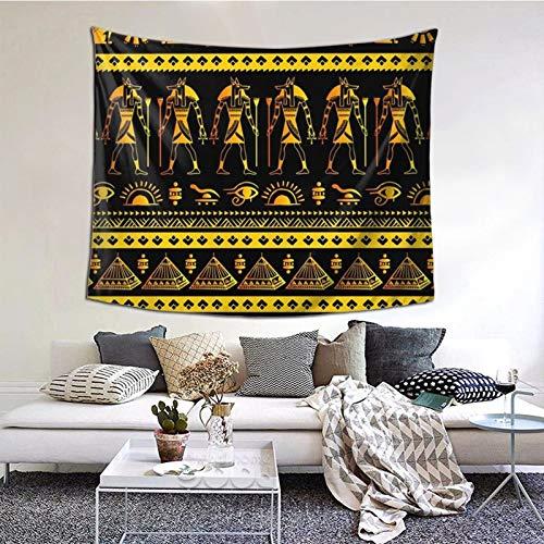 ZVEZVI Tapiz Tribal étnico de Egipto para Colgar en la Pared, tapices, Manta de Pared, Arte de Pared para Sala de Estar, Dormitorio, decoración del hogar, 60X51 Pulgadas