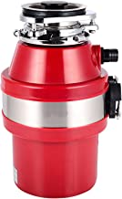 370W Food Waste Disposal Unit For Sink In-Sink,Dispose Food Waste Quickly,90Mm Hole,Kitchen Sink Garbage Disposal,Red