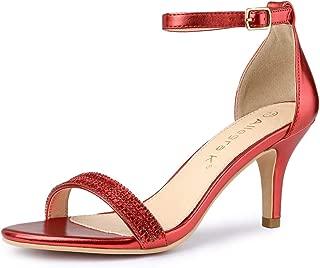 Women's Stiletto Heels Rhinestone Ankle Strap Sandals