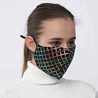 Yienate Sparkly Rhombus Pailletten Masker Halloween Masker Party Nachtclub Paillette Gezichtsmasker Mode BlingBling Decora...