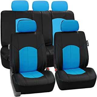 Strange Amazon Com Blue Leather Seat Covers Seat Covers Alphanode Cool Chair Designs And Ideas Alphanodeonline