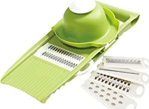 Vegetable Slicer Food Chopper Cutter Cheese Grater Multifunctional Vegetable Cut With(Green)