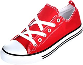 Boys and Girls Slip On Canvas Sneakers - Casual Comfortable Cap Toe Shoes - Little Kid/Toddler