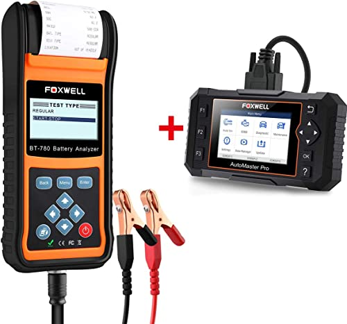 wholesale FOXWELL online Car Battery Load Tester for 12V 24V Auto Batteries wholesale BT780 Analyzer with Built-in Printer with Foxwell NT624 Car Scanner sale