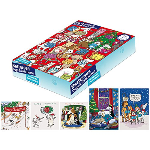 Battersea Dogs   Cat Home Charity Christmas Cards - Box of 20   Amazon.co.uk  Office Products f0f5ecbcd