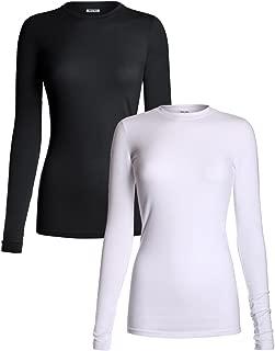 Women's Medical Scrub Solid Long Sleeve Undershirt Multi Pack