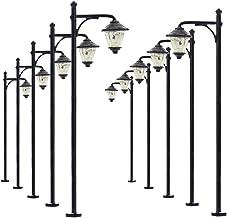LYM10 10 pcs Model Railway Bulb Lamppost Lamps 6.5cm 2.56inch Street Lgihts HO Scale 12V New