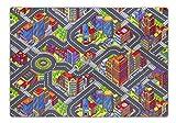 andiamo 293371 Kinderteppich Game City Bunt