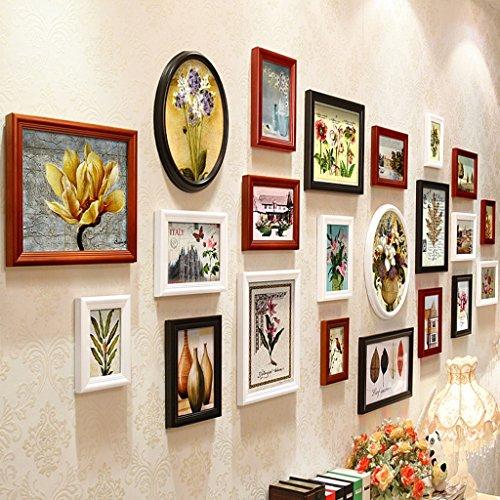 Cadre décoratif BRICOLAGE cadre photo ensembles pour mur salon cadre photo mur, créatif mur photo cadre combinaison 22 pcs / ensembles Collage cadre photo ensemble, cadres photo Vintage ( Couleur : E , taille : 22frames/230*95CM )