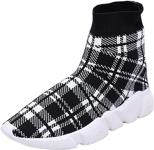 Qiusa Femmes Mocassins Easy Walk Slip-on Léger Confort Loisirs Mocassins Mocassins Chaussures paniers (Couleuré   Noir, Taille   43EU)  économiser jusqu'à 70% de réduction