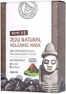 WELCOS Jeju Natural Facial Mask(10ea) (Volcanic Ash)