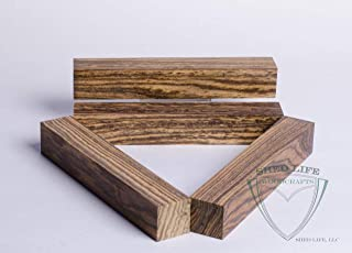 Bocote 7/8 inch Pen Blanks - 4 Pack