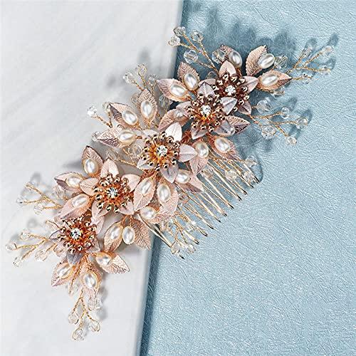 Diy - Peineta para novia, diseño de hojas de oro