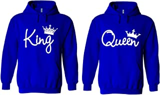 King and Queen Write Hoodie Couple Matching Sweater Pullover Hooded Sweatshirt Jacket