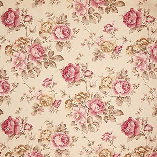 Fabulous Fabrics Dekostoff Ottoman Rosen – Hellbeige — Meterware ab 0,5m — zum Nähen von Kissen, Tischdecken und Stühle