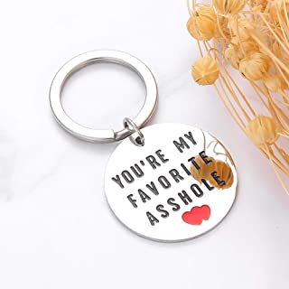 You're My Favorite AsshleKeychain Anniversary Gifts for Husband Wife Funny Keychain for Boyfriend Girlfriend Couples Keychains for Her Him Valentines Day Wedding Birthday Gifts from Wifey Hubby