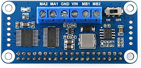 Motor Driver HAT for Raspberry Pi Onboard PCA9685 TB6612FNG Drive Two DC Motors I2C Interface 5V 3A Can be Stackable up to 32 This Modules