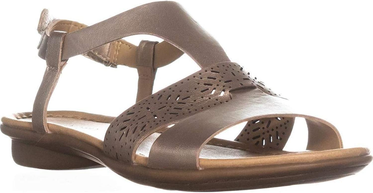 Naturalizer Womens Westly Leather Sandals Flat Sandals