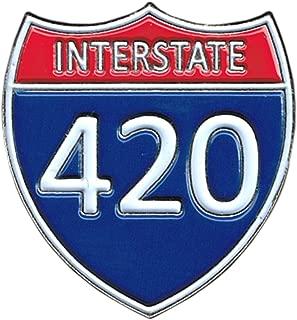 Interstate 420 - Highway Sign - Enamel Pin