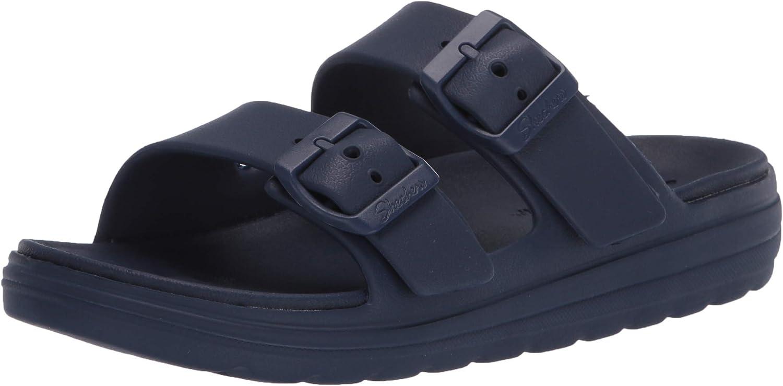 Skechers Foamies Street Cleat Low Women's Cali Gear Slide Sandal, Navy, 7