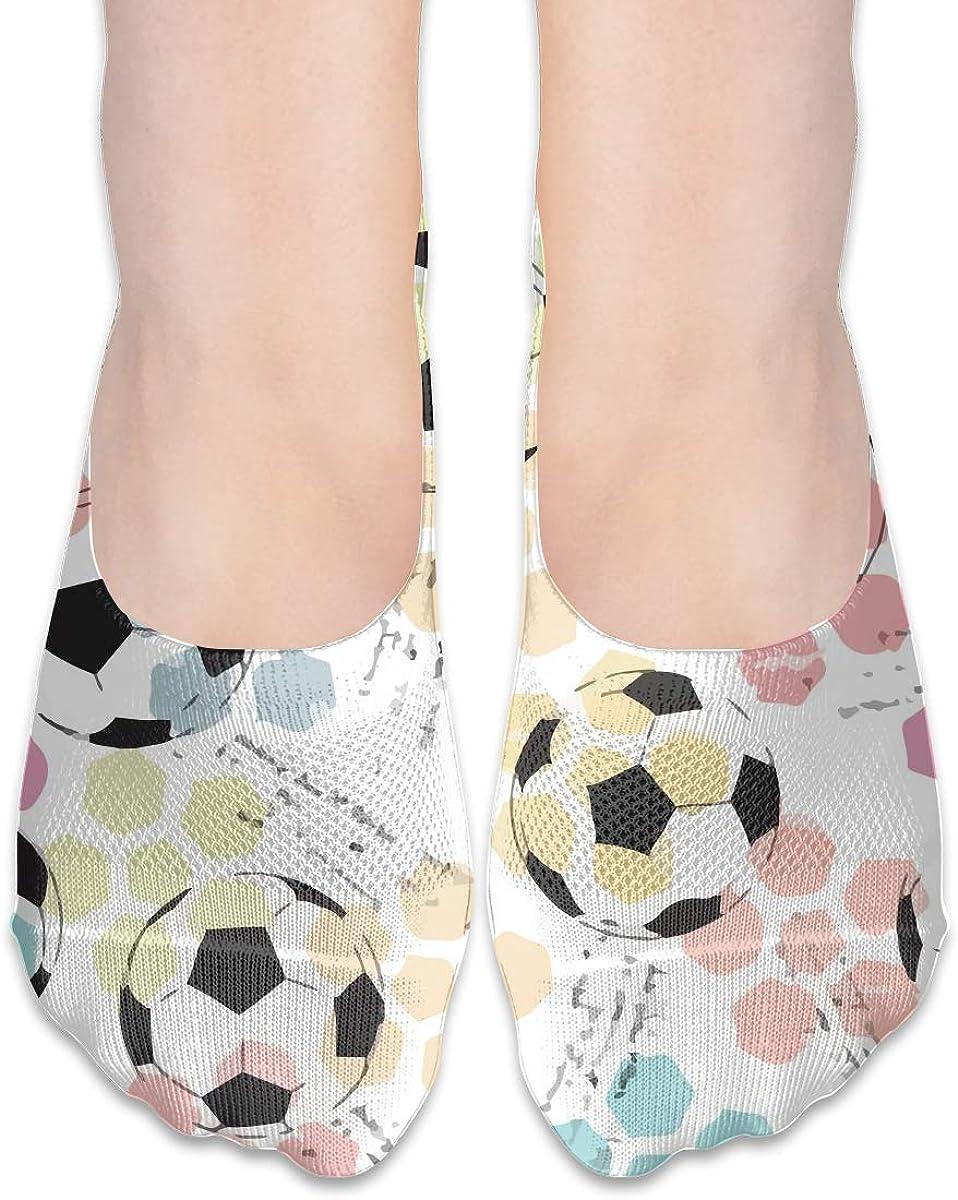 No Show Socks Women Men For Football Soccer Watercolor Flats Cotton Ultra Low Cut Liner Socks Non Slip