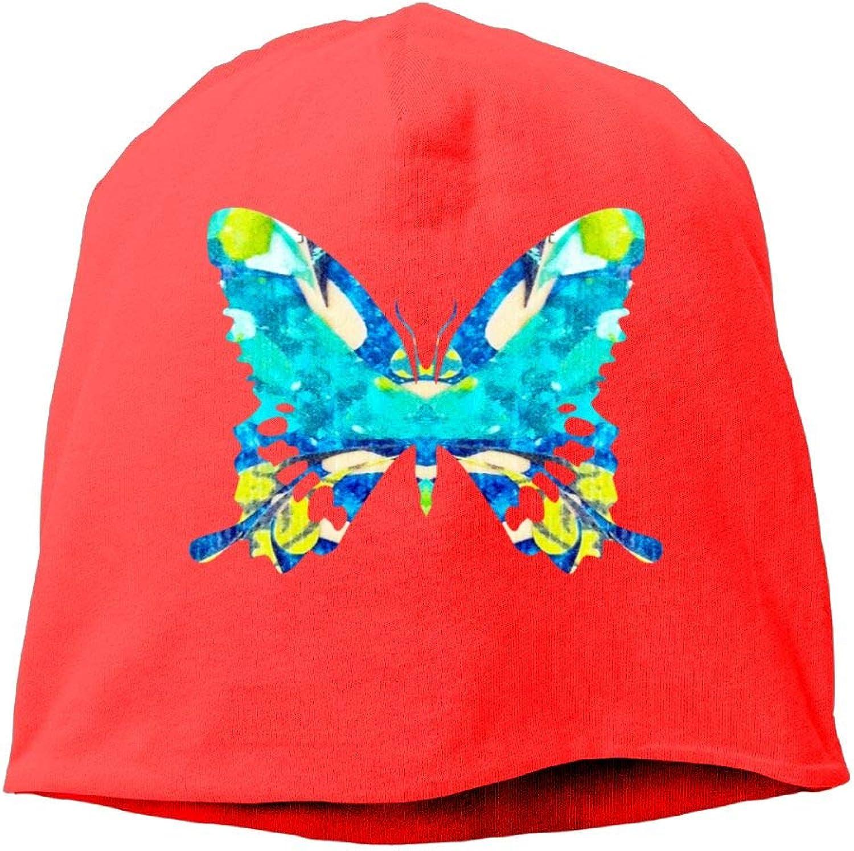 Jusxout Tiedye Butterfly Women's Skull Cap Beanie Hat