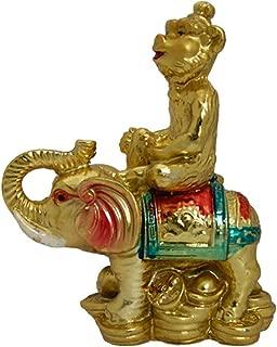 Divya Mantra Feng Shui Monkey On Elephant Others Yellow