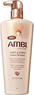 Ambi Soft & Even Creamy Oil Lotion 12 Ounce Pump (354ml) (6 Pack)