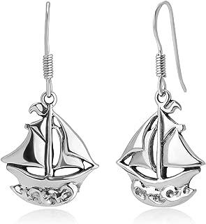 sailboat earrings nautical jewelry
