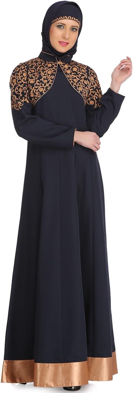 MyBatua Navy bluee Kashibo Party Wear Muslim Women's Wear Abaya Burqa Dress AY514