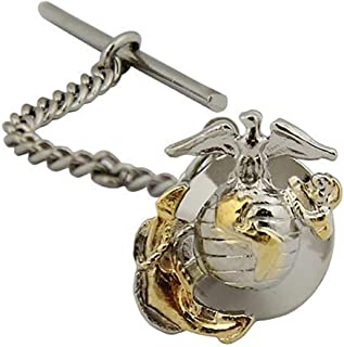 US Marine Corps Officer Tie Tac - 2 Tone - Gold & Silver Emblem by Vanguard