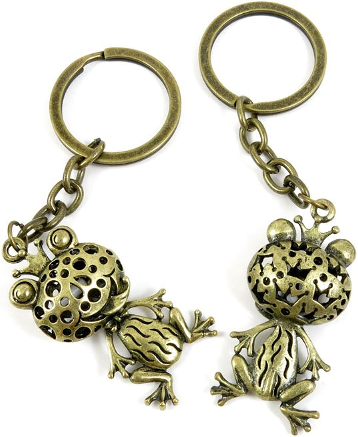 40 PCS Keyring Car Door Key Ring Tag Chain Keychain Wholesale Suppliers Charms Handmade W9GB9 Hollow Frog Prince