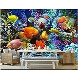 Foto papel tapiz 3d mundo submarino acuario peces tropicales sala de estar decoración del hogar papel tapiz mural 3d 350x250cm