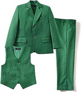 d93719d3c YuanLu 3 Piece Kids Boys' Formal Blazer Vest and Pants Dress Suits Set for  Party