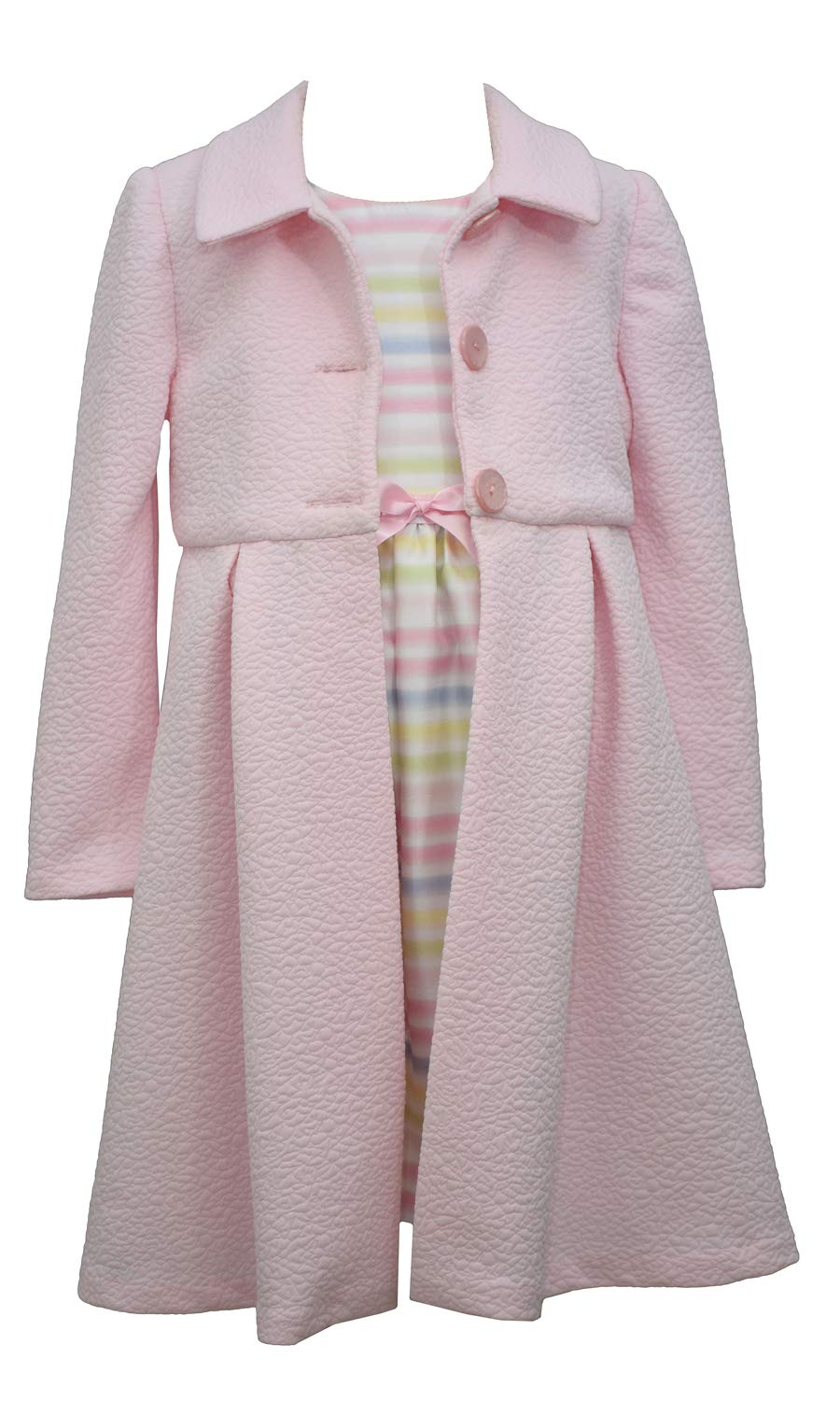 Bonnie Jean Girl's Easter Dress and Coat Set - for Baby, Infant, Toddler and Little Girls