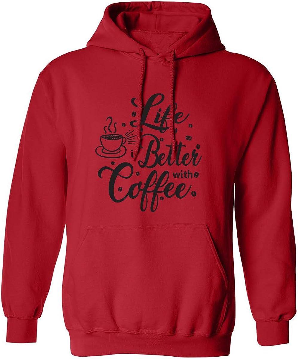 zerogravitee Life is Better with Coffee Adult Hooded Sweatshirt