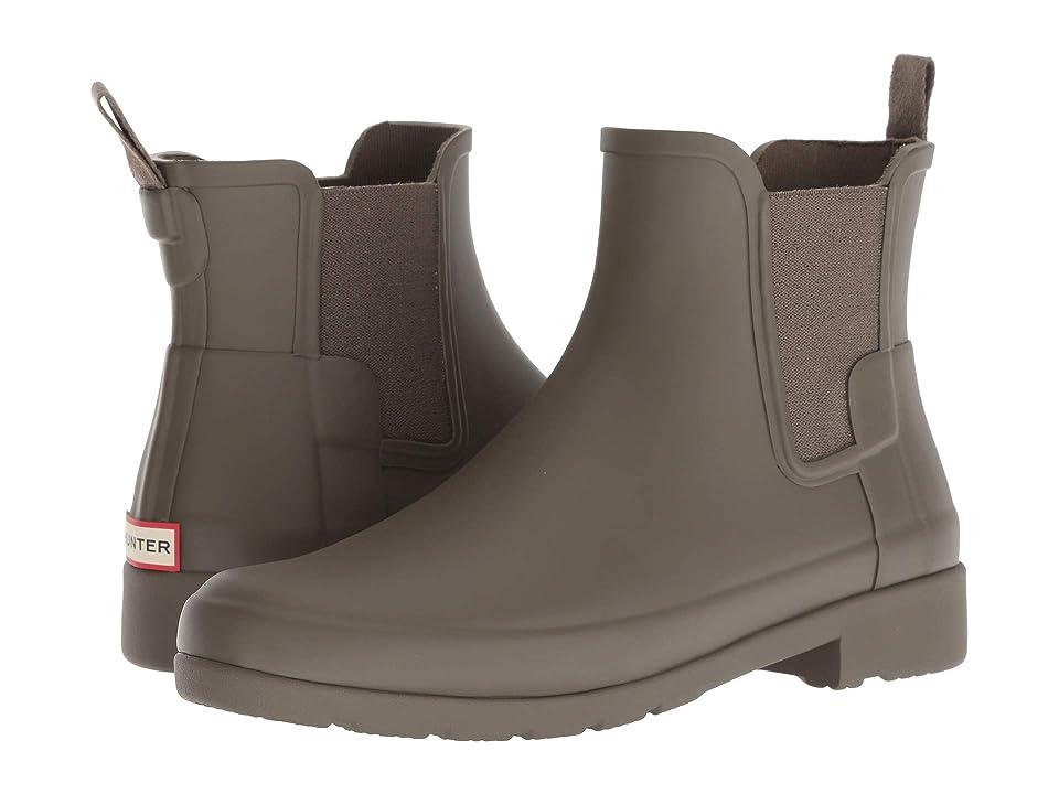 Hunter Original Refined Chelsea Boots (Swamp Green) Women