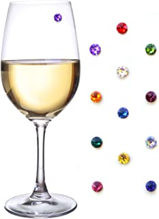 swarovski crystal wine glass charms