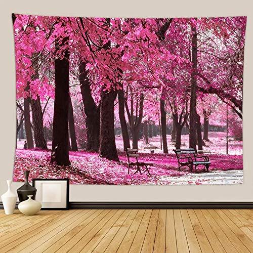 N/A 3D-Druck Auf Tapeten Rosa Kirsche Wandteppich Dekorationen Für Home Plant Tapisserie Drapieren Wandbild Großen Wandteppich Chinesische Art Einweihungsparty Geschenk Böhmischen Strandtuch