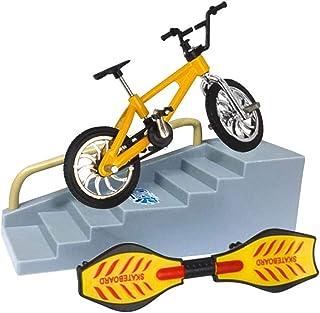 ZHANGLI Finger Bicycle Finger Skateboard Toy Set - Educational Toy Fun Bike Scooter for Kids Mini Finger Skateboard Set Li...