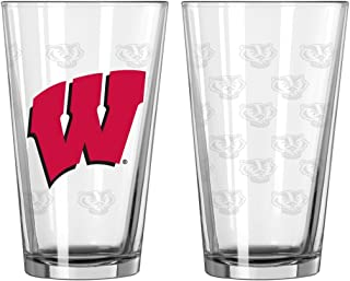 NCAA Louisville Cardinals Primary 16-ounce Pint Glass